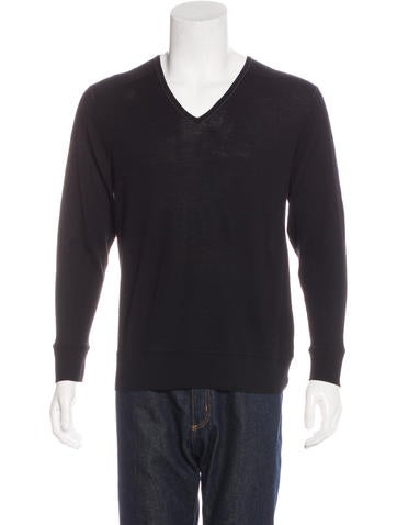 John Varvatos V-Neck Knit Sweater None