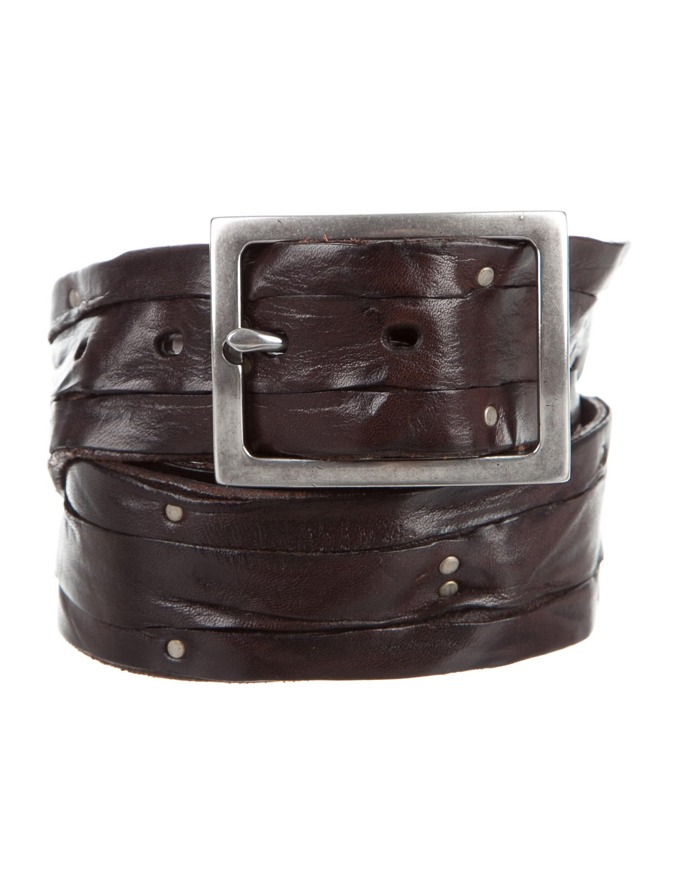varvatos distressed leather belt accessories