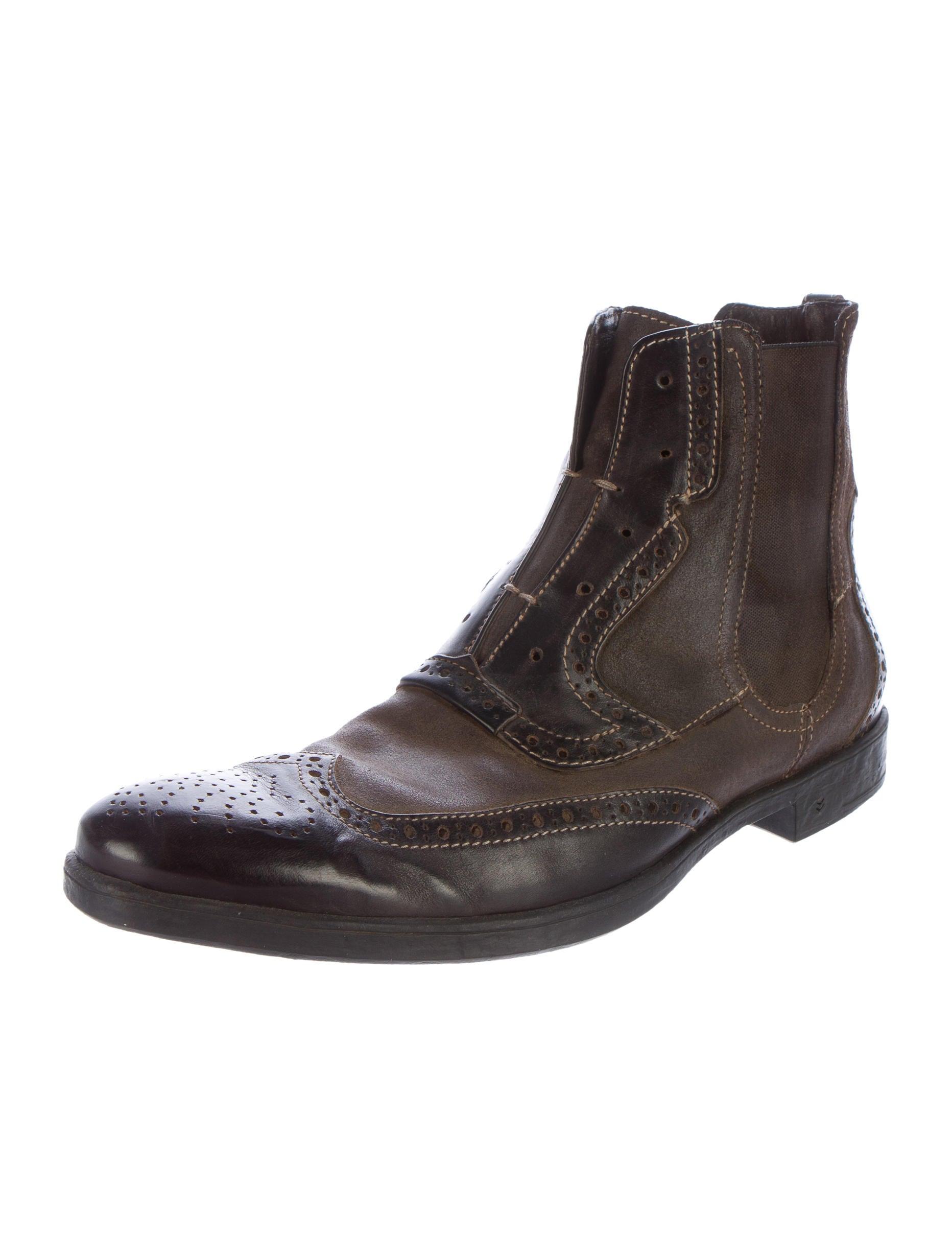 Eclectic Decor John Varvatos Laceless Brogues Boots Shoes Jva22986
