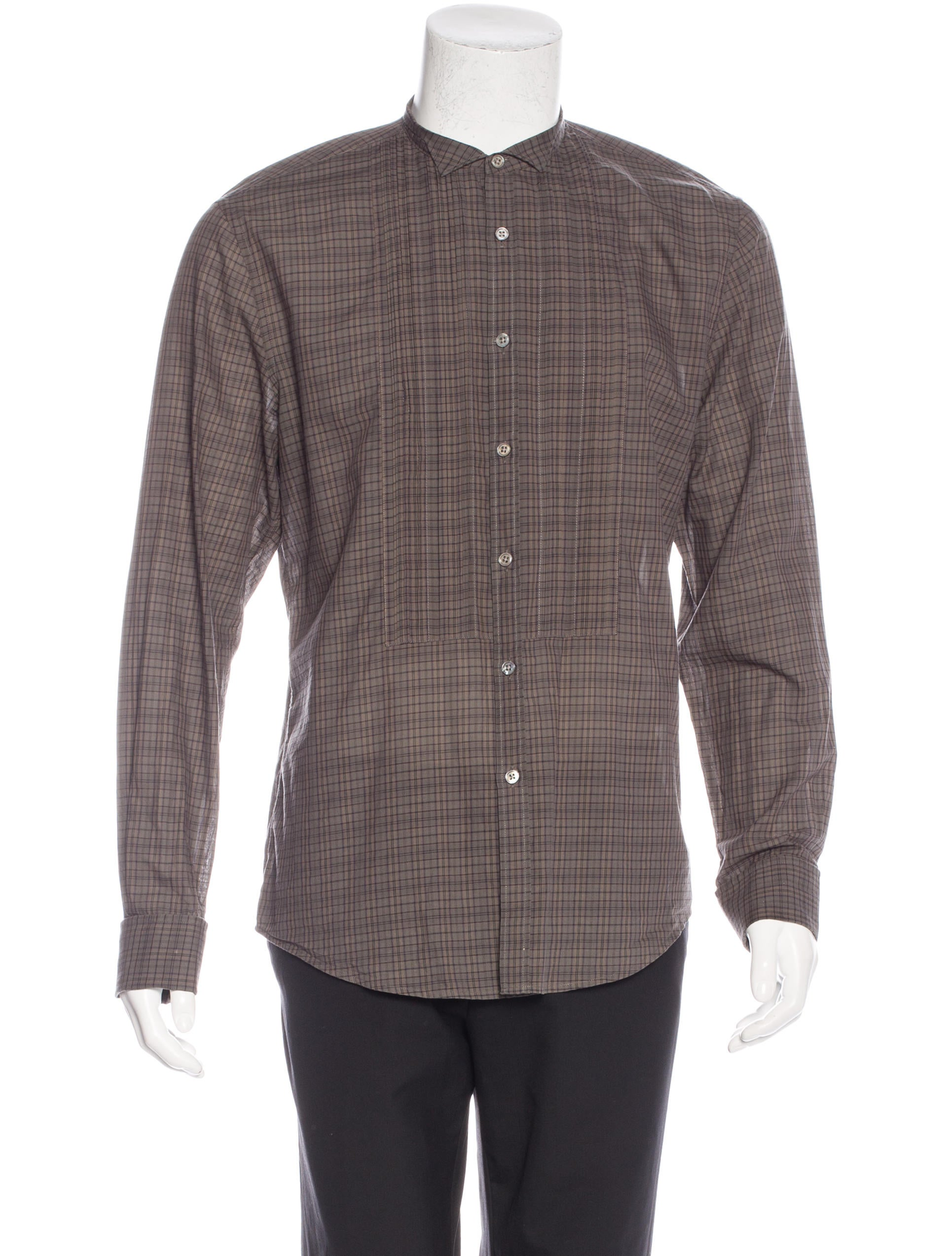 John varvatos pleated french cuff shirt clothing for What is a french cuff shirt