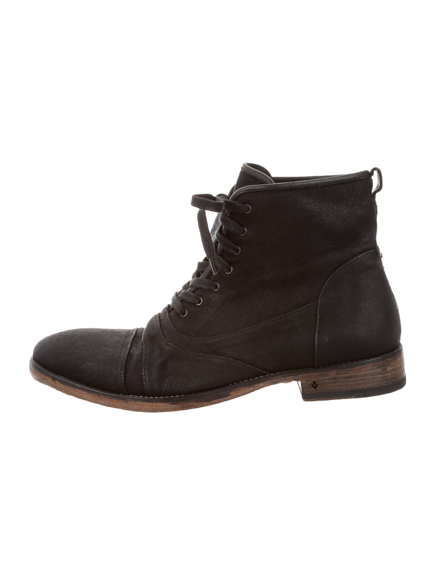 John Varvatos Canvas Ankle Boots - Shoes - JVA23254   The ...