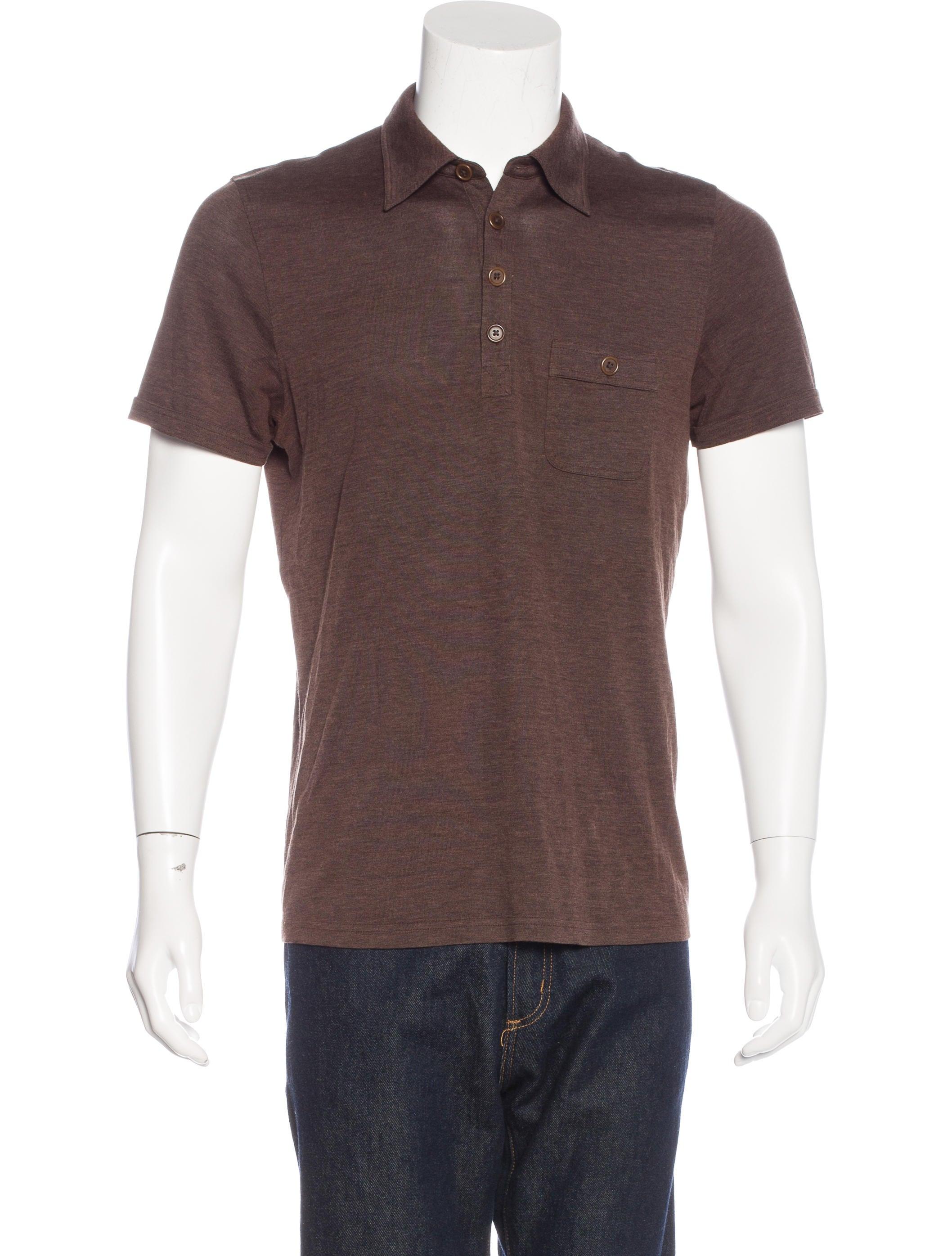 John Varvatos Silk Polo Shirt Clothing Jva23344 The