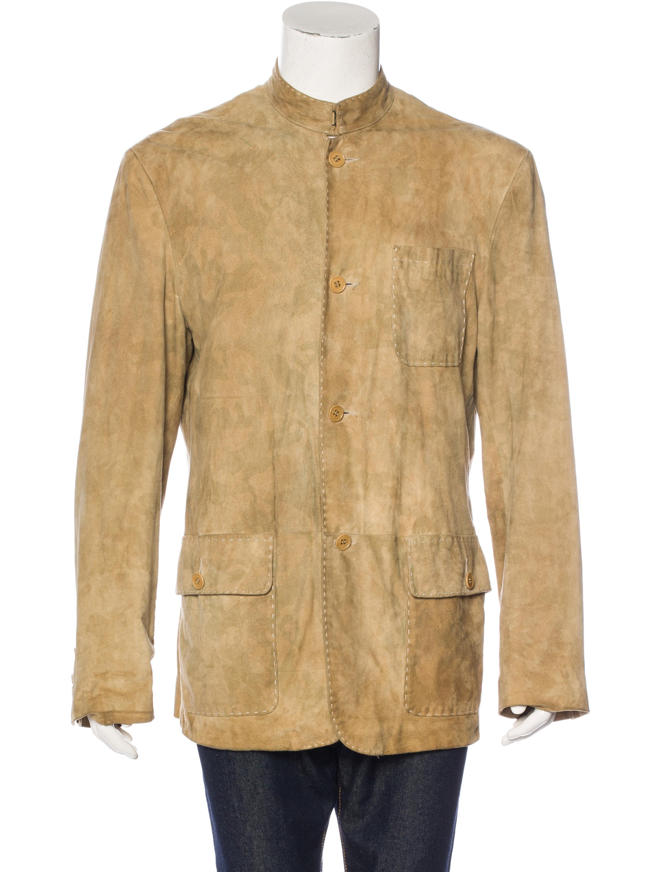 john varvatos suede shirt jacket clothing jva23356