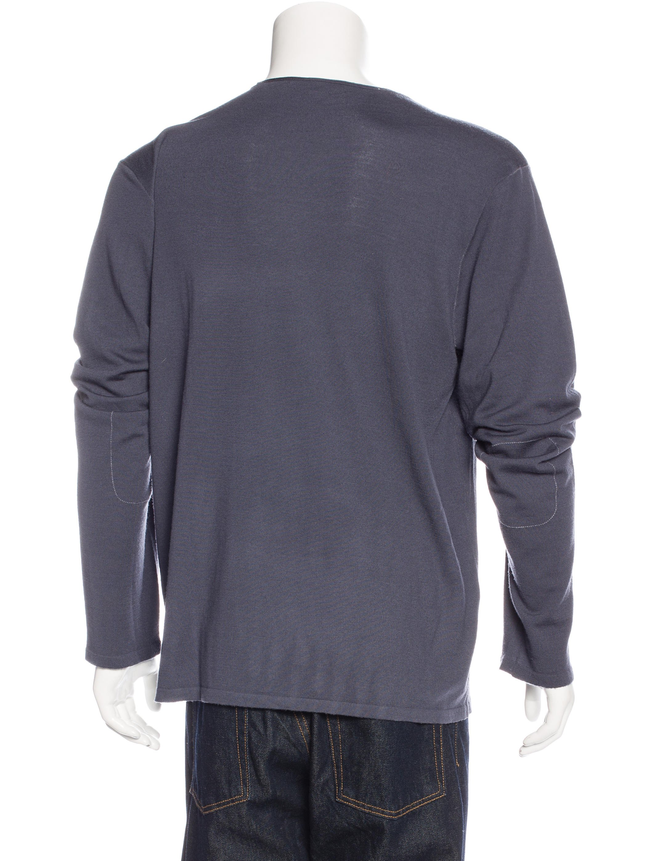john varvatos wool long sleeve t shirt clothing
