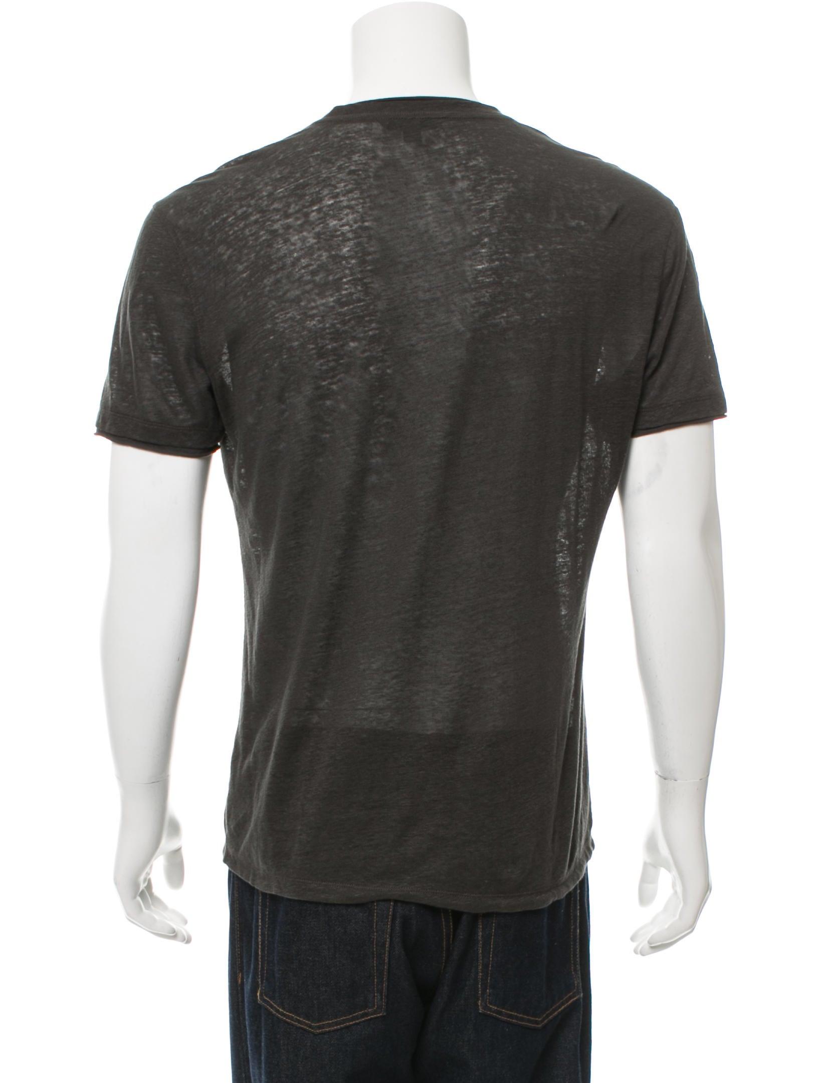 John varvatos short sleeve linen t shirt clothing for Short sleeve linen shirt