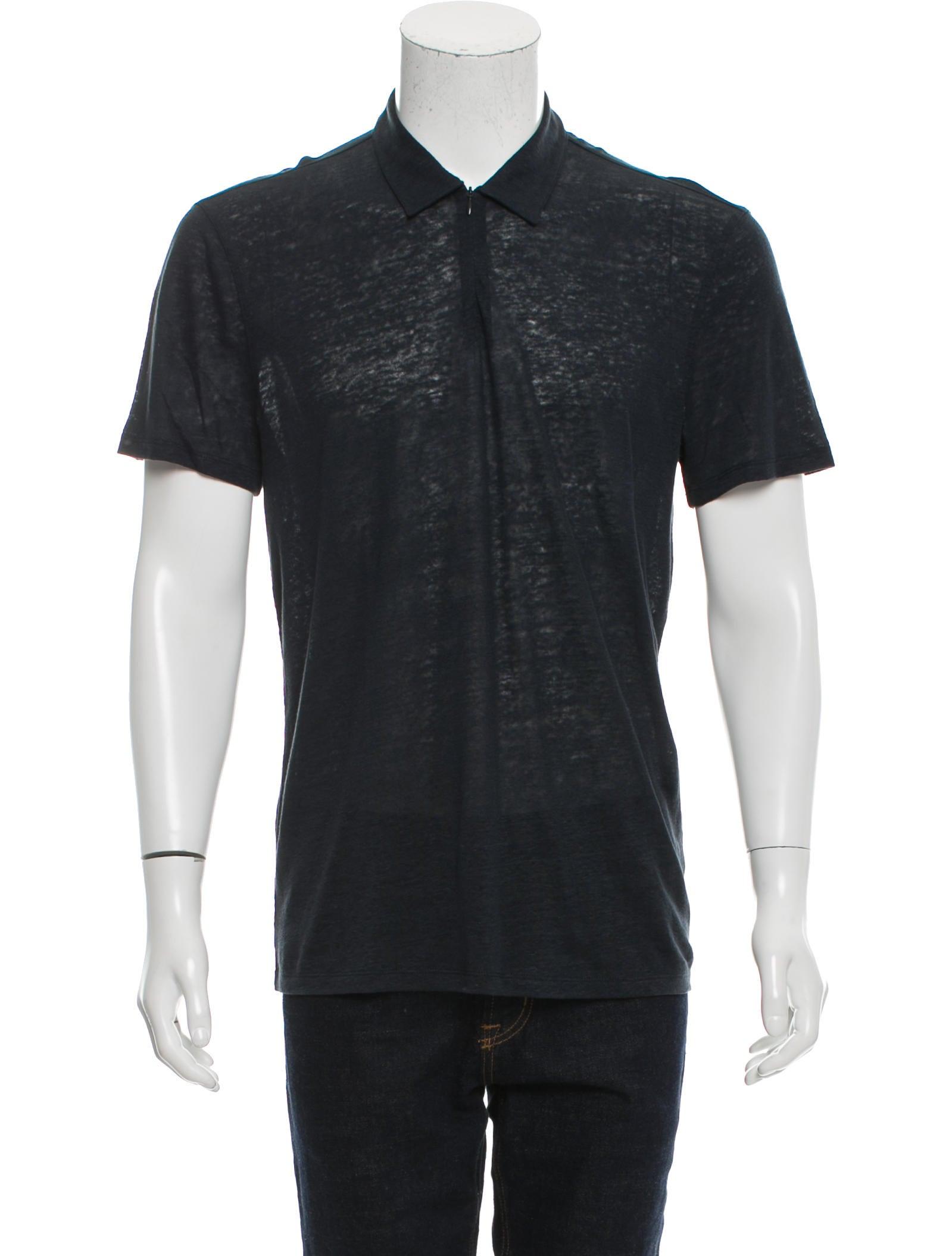 John Varvatos Linen Polo Shirt w/ Tags