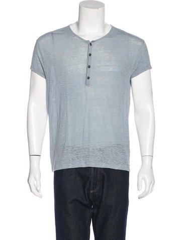John Varvatos Knit Henley T-Shirt None