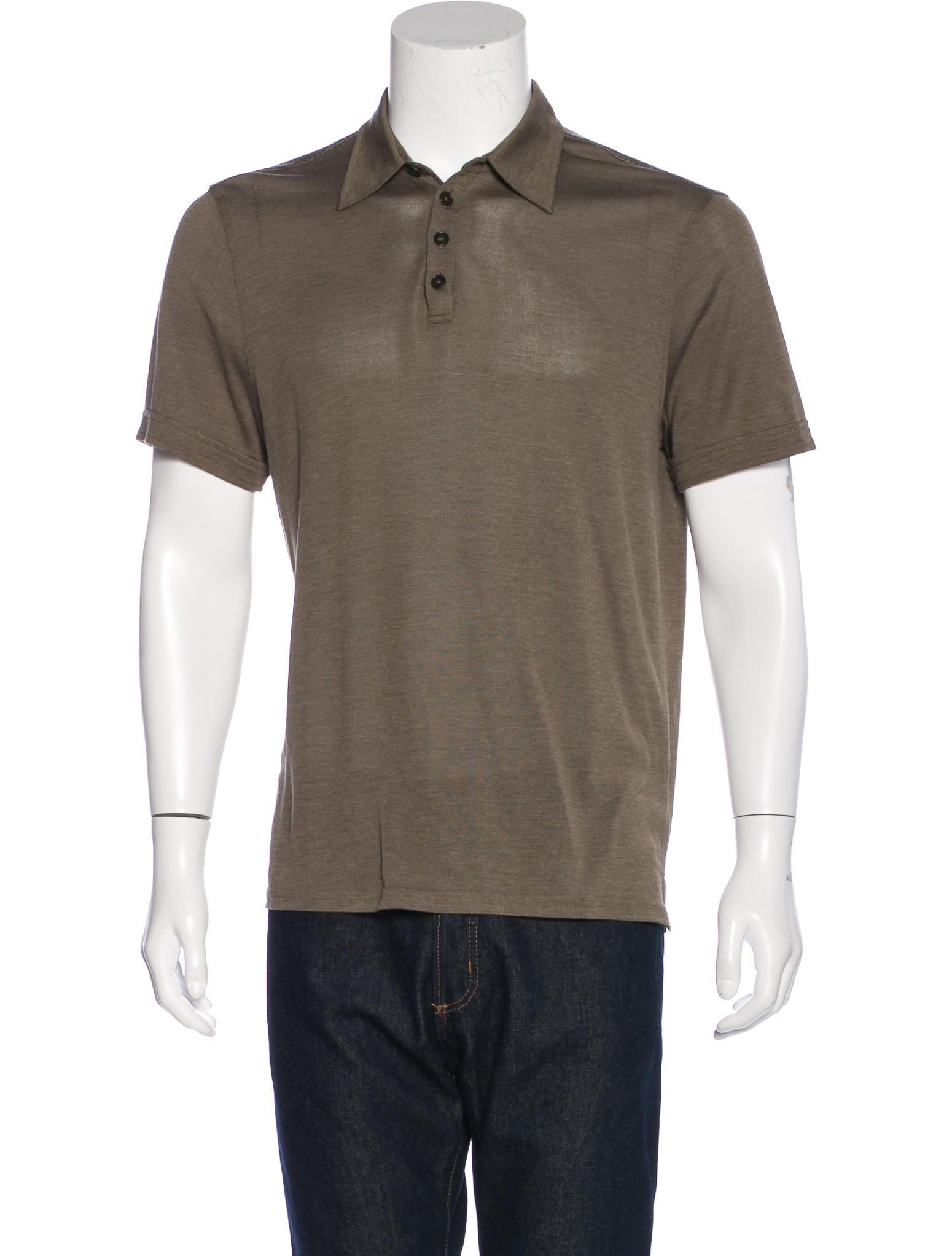 John Varvatos Silk Blend Polo Shirt Clothing Jva23740