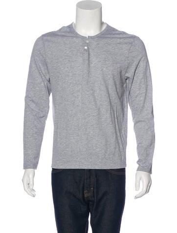 John Varvatos Long Sleeve Henley T-Shirt None