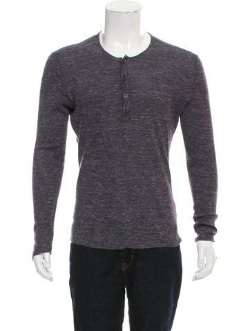 John Varvatos Silk-Blend Henley Sweater None