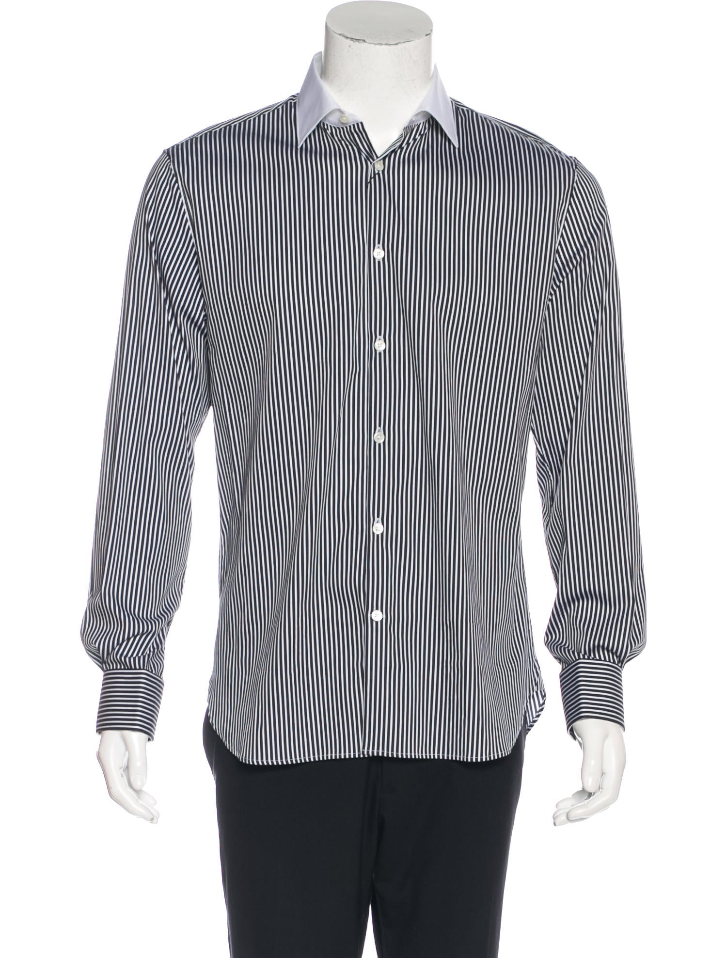 John varvatos slim fit french cuff shirt clothing for French cuff slim fit dress shirt