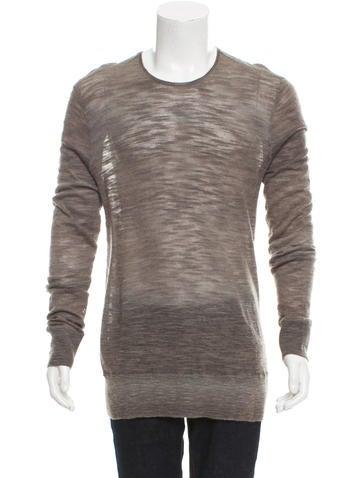 John Varvatos Wool-Blend Knit Sweater None