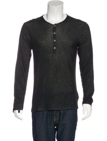 John Varvatos Henley T-Shirt None