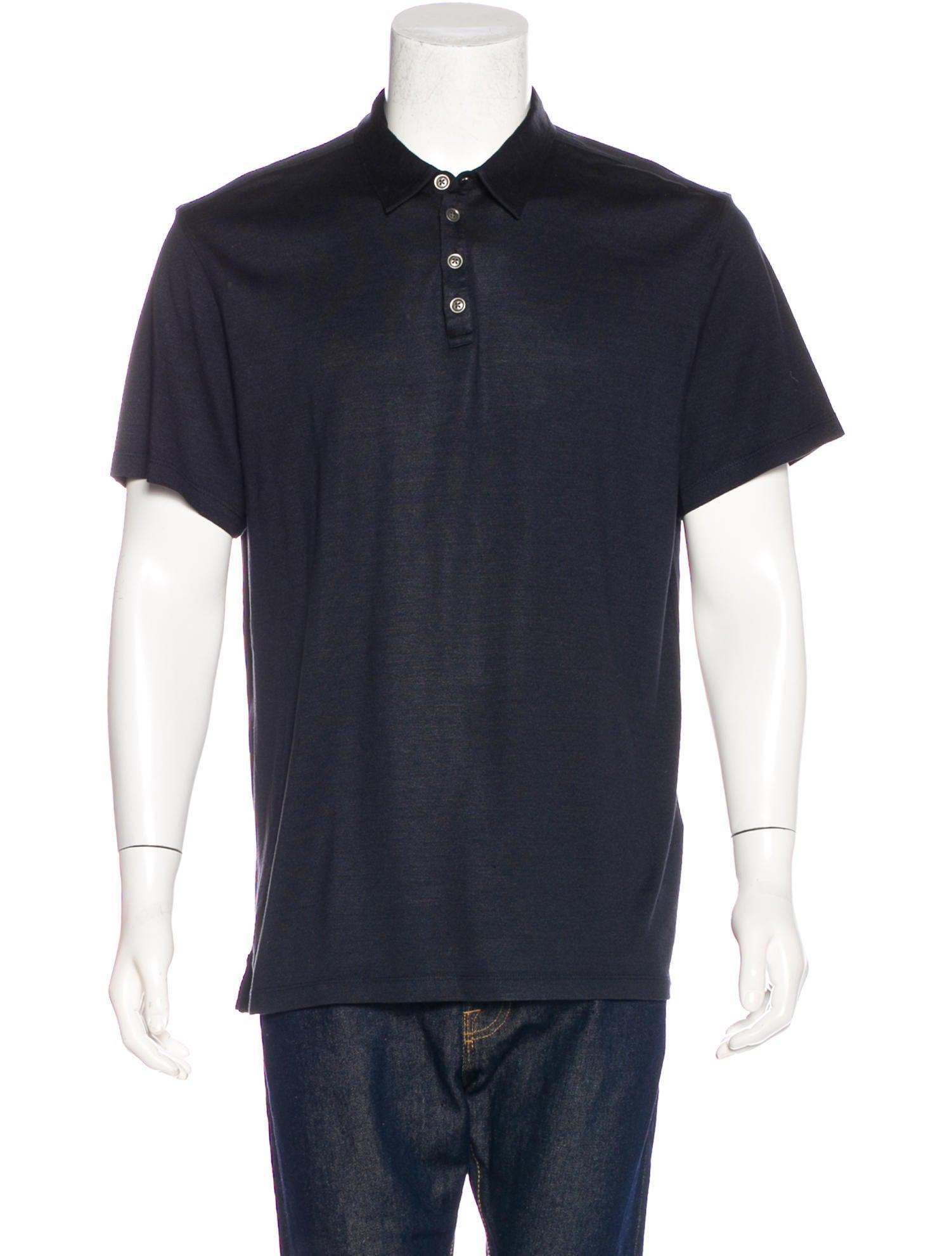 John Varvatos Silk Blend Polo Shirt Clothing Jva24125