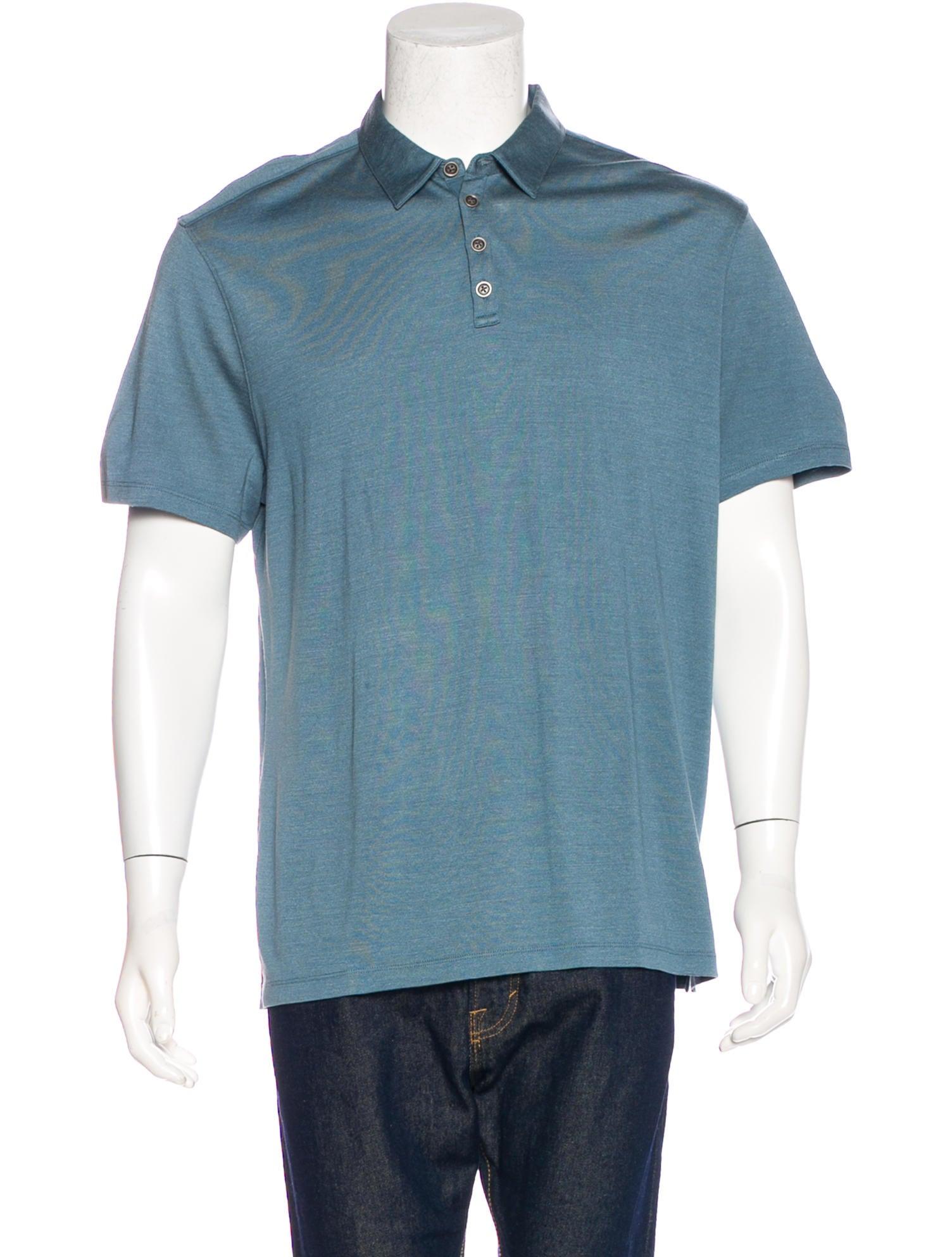 John Varvatos Silk Blend Polo Shirt Clothing Jva24126