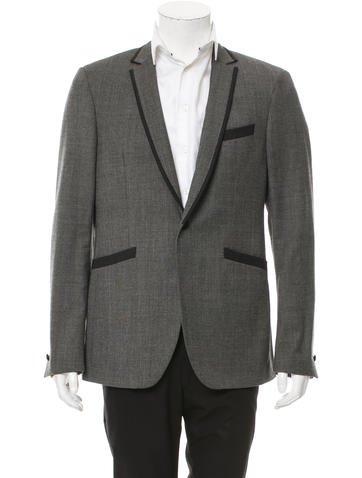 John Varvatos Virgin Wool One-Button Blazer None