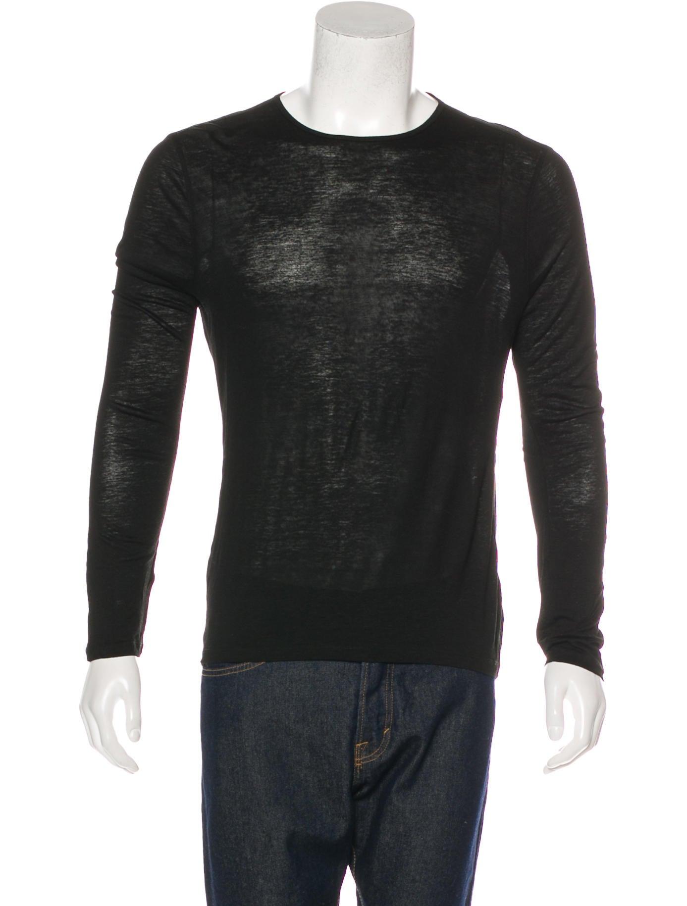 John varvatos linen blend long sleeve t shirt clothing for Linen long sleeve shirt