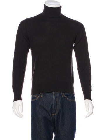 John Varvatos Cashmere Mock Neck Sweater. None