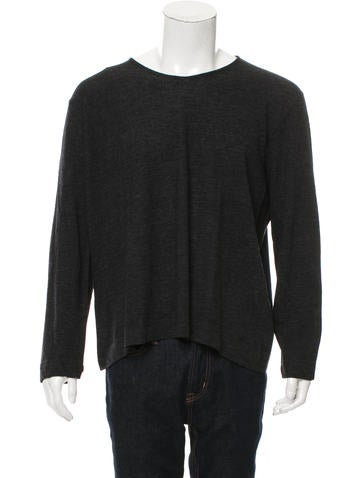 John Varvatos Wool Crew Neck Sweater None