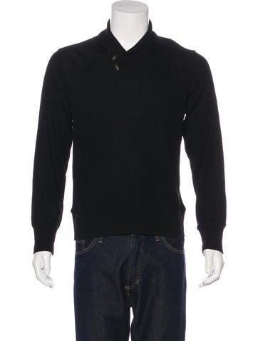 John Varvatos Wool Shawl Sweater None