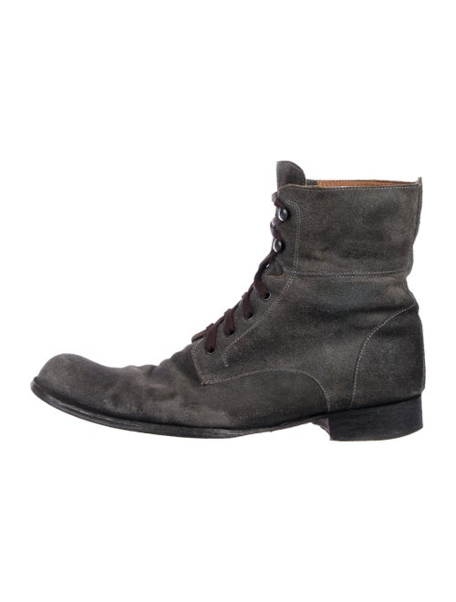 bef7f3e63 John Varvatos Suede Combat Boots - Shoes - JVA29488 | The RealReal