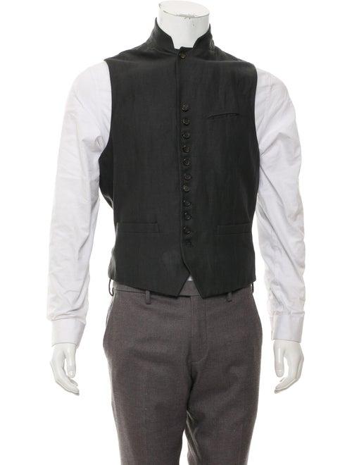 John Varvatos Linen Suit Vest