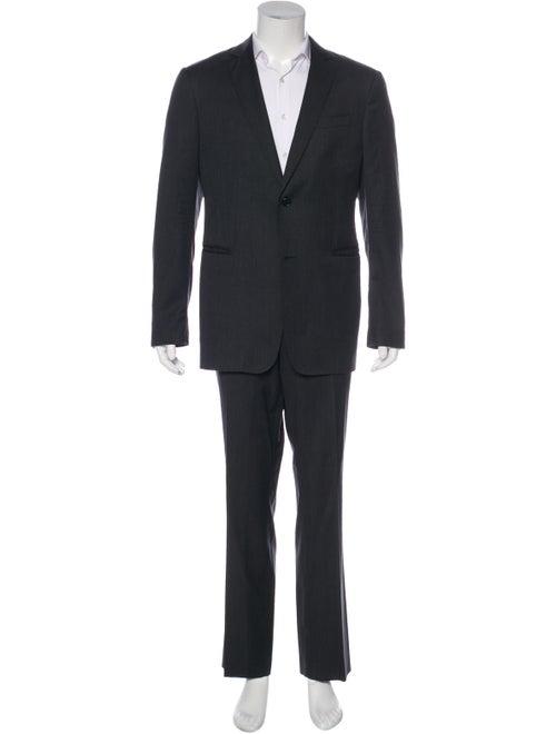 John Varvatos Wool Two-Piece Suit Set grey