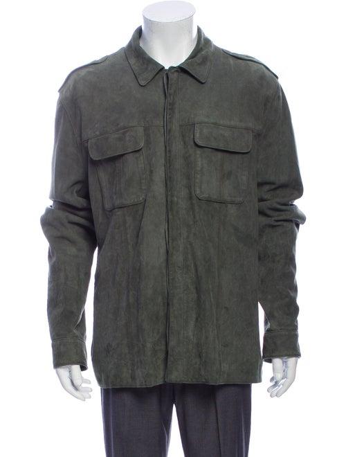 John Varvatos Suede Jacket Green
