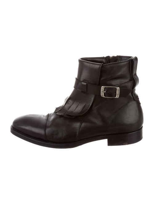 John Varvatos Leather Ankle Boots black