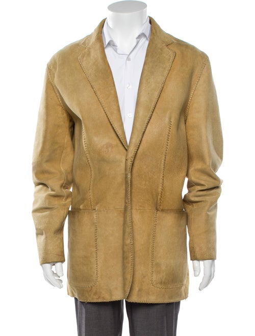 John Varvatos Leather Sport Coat