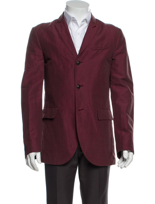 John Varvatos Striped Sport Coat Red