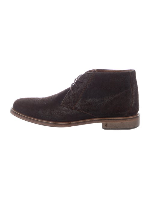 John Varvatos Suede Lace-Up Boots Brown