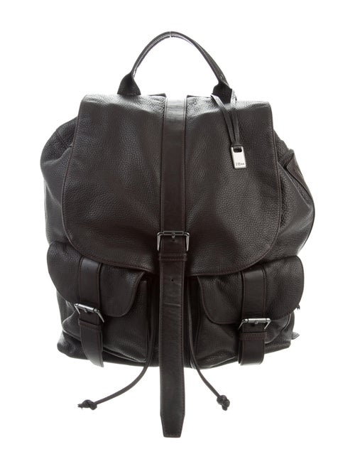 John Varvatos Leather Backpacks Brown
