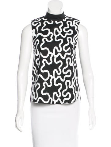 J.W. Anderson Squiggle Print Sleeveless Top w/ Tags