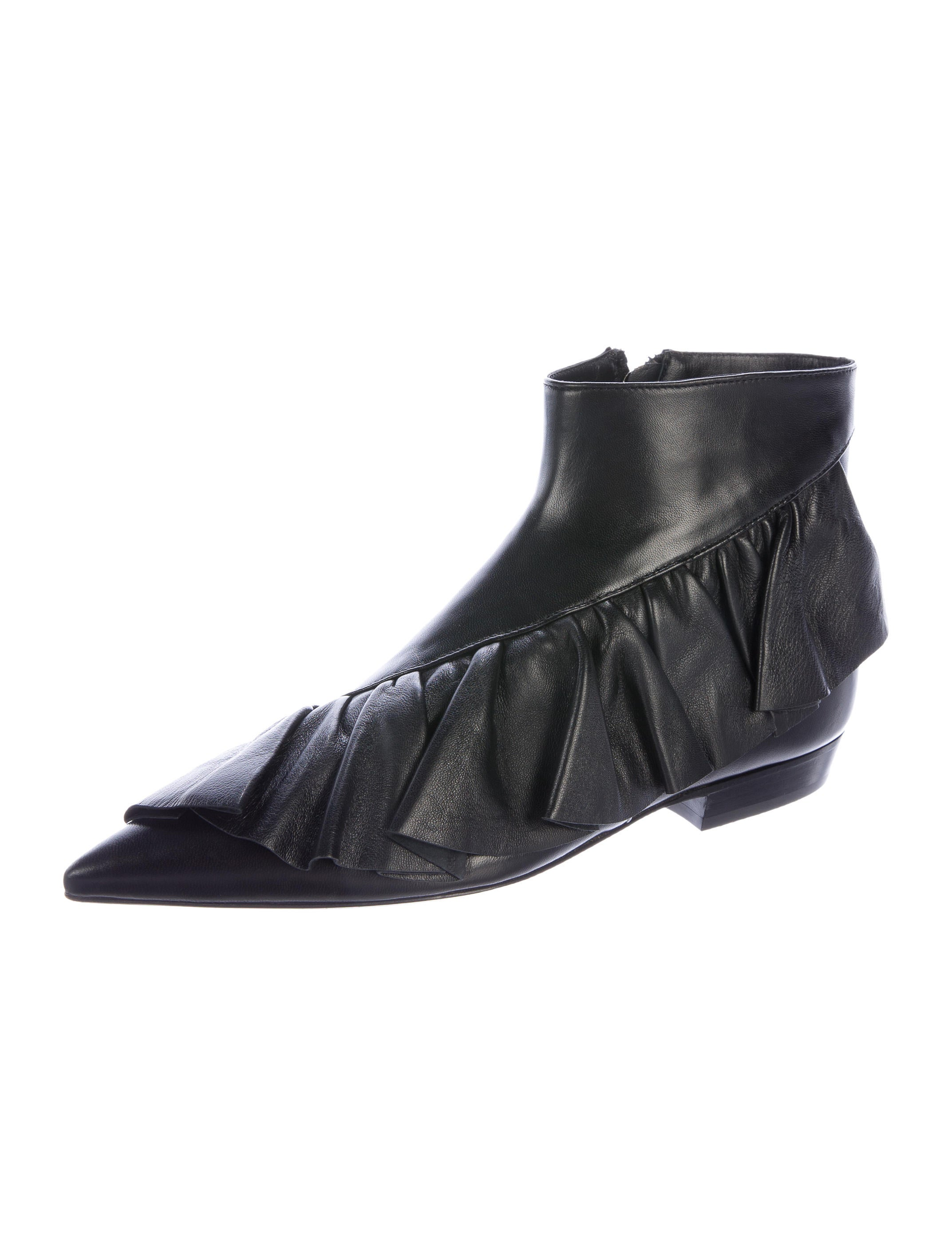 J W Anderson Leather Ruffle Booties W Tags Shoes