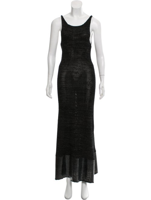 J.w. Anderson Knit Maxi Dress Black