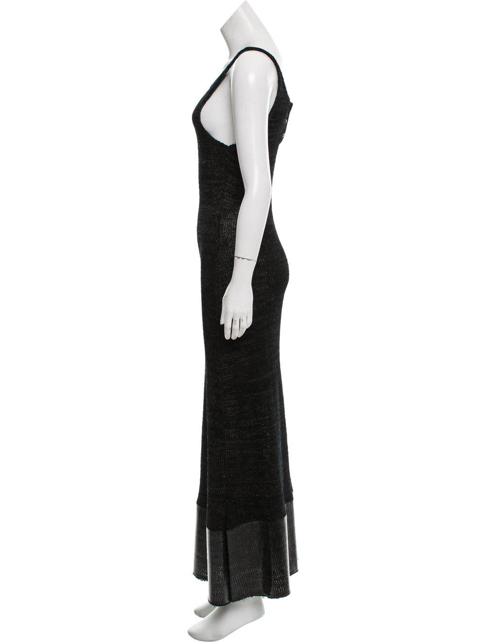 J.w. Anderson Knit Maxi Dress Black - image 2