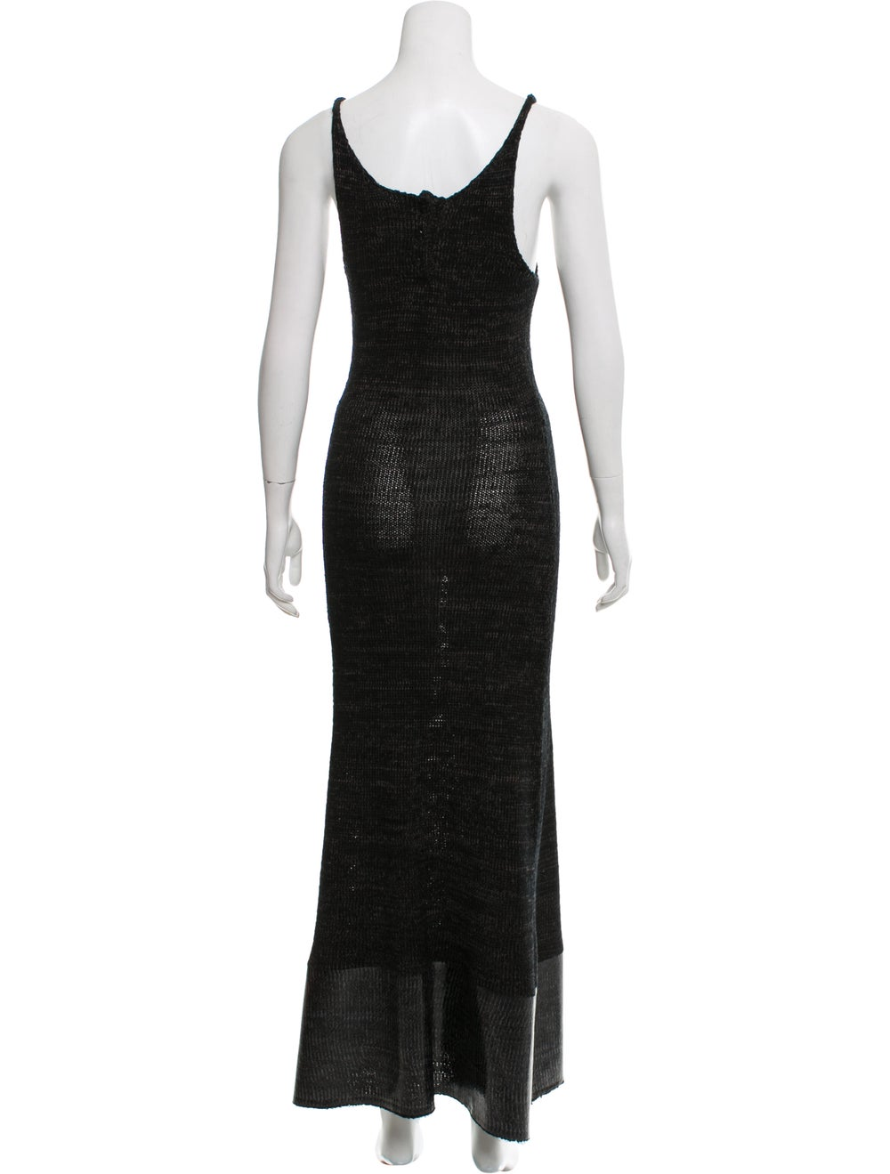 J.w. Anderson Knit Maxi Dress Black - image 3