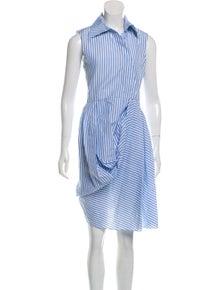 6dee8efea J.W. Anderson. Striped Knee-Length Dress