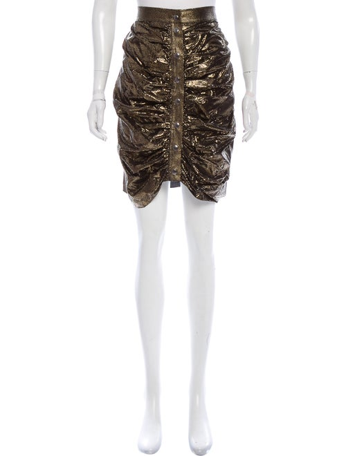 J.w. Anderson Silk Metallic Skirt Black