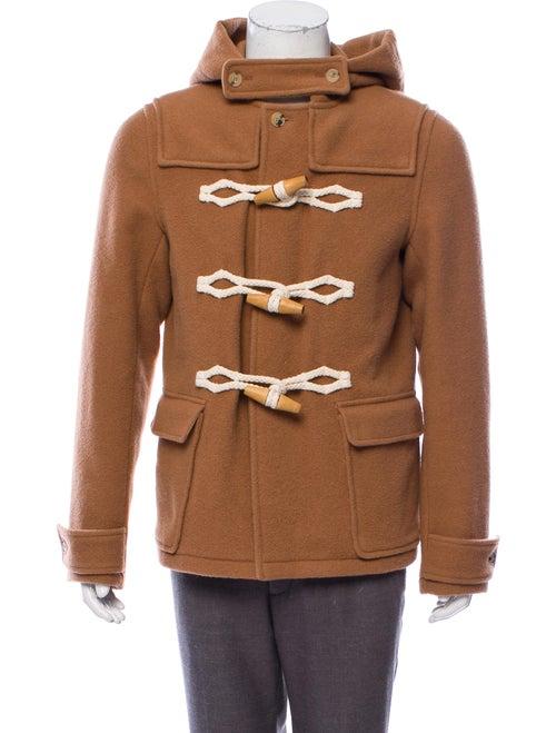 J.w. Anderson Wool Duffel Coat tan
