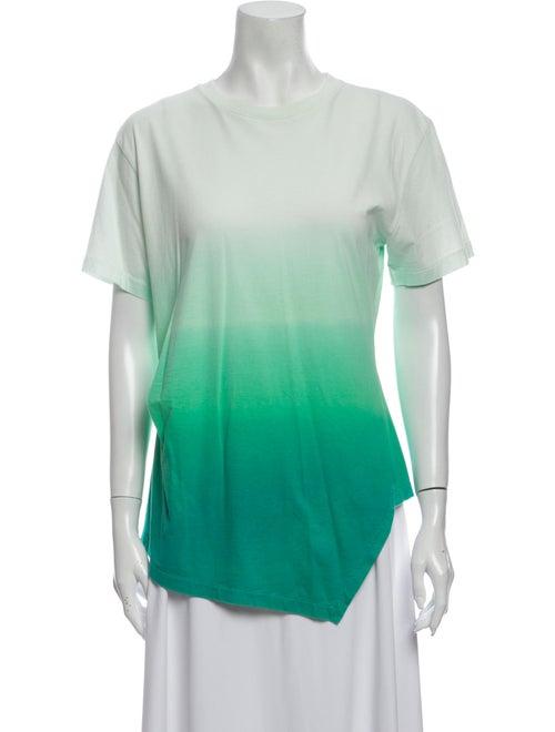 J.w. Anderson Tie-Dye Print Crew Neck T-Shirt Gree
