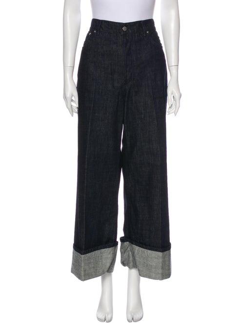J.w. Anderson High-Rise Wide Leg Jeans Blue