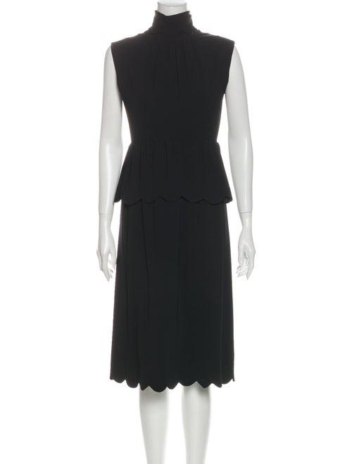 J.w. Anderson Turtleneck Midi Length Dress Black