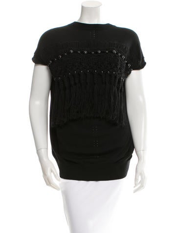 Junya Watanabe Comme des Garçons Wool Fringe Top w/ Tags None