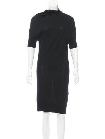 Junya Watanabe Comme des Garçons Wool Midi Dress None