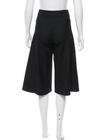 Wool High-Rise Culottes