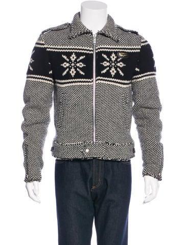 Junya Watanabe Comme des Garçons Intarsia Knit Wool Jacket None