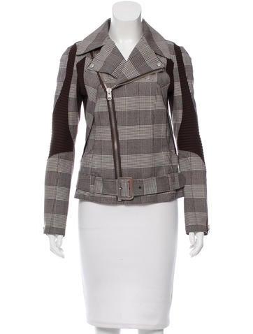 Junya Watanabe Comme des Garçons Wool Plaid Moto Jacket None