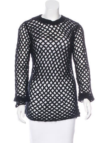 Junya Watanabe Comme des Garçons Open Knit Long Sleeve Sweater None